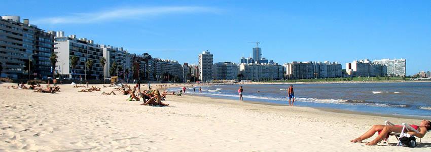 Praia de Pocitos - Montevidéu   Uruguai