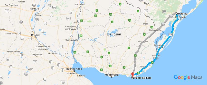Como chegar em Punta del Este de carro