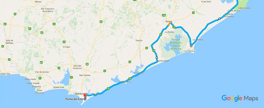 Como chegar em Punta del Este pelo litoral do Uruguai