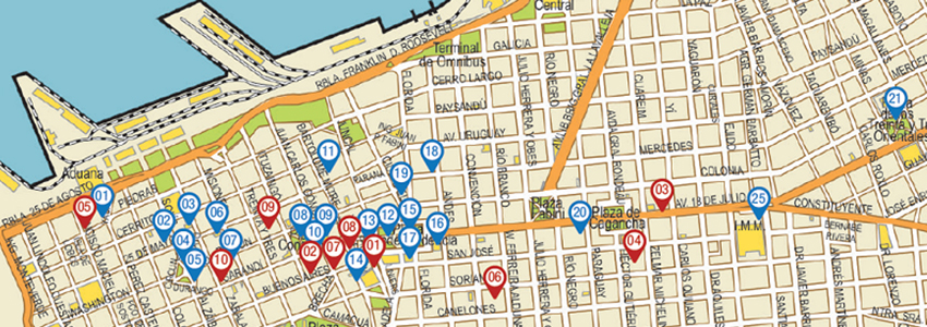 Mapa de Montevidéu-Montevideo