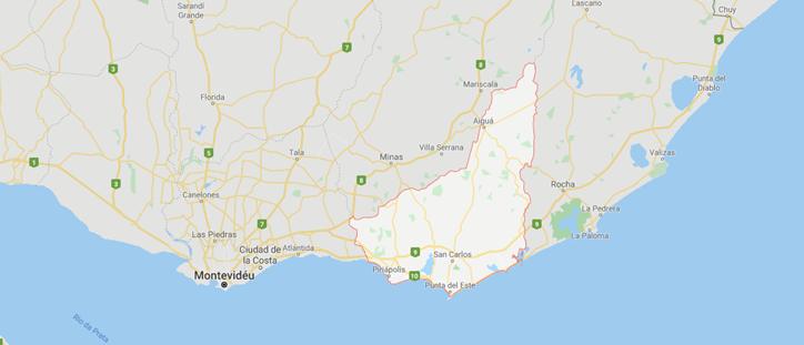 Maldonado Uruguai Mapa