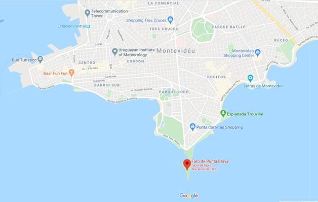 Farol de Punta Carretas Montevideo Mapa