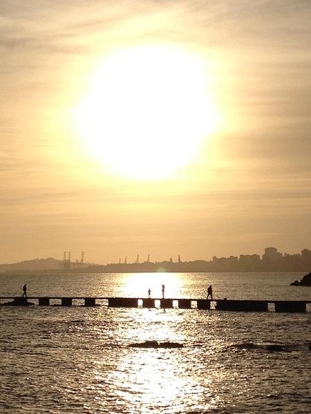Por do Sol no Farol de Punta Carretas Montevideo